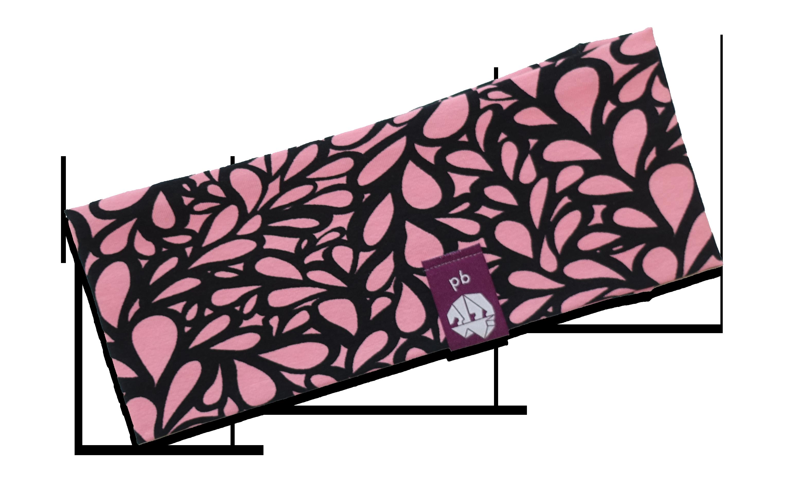 Stirnband_Erwachsene_Blätter_Pink